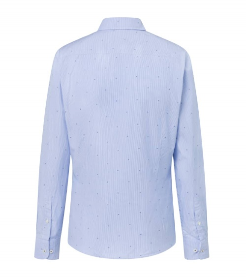 Hackett London Camisa Celeste Rayas H espalda