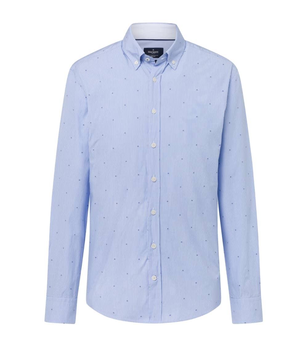 Hackett London Camisa Celeste Rayas H