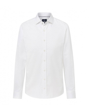 Hackett London Camisa Blanca Puntos