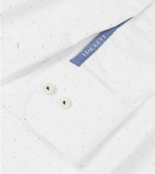 Hackett London Camisa Blanca Puntos puño