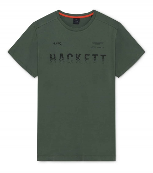 Hackett London Camiseta Verde Logo Degradé
