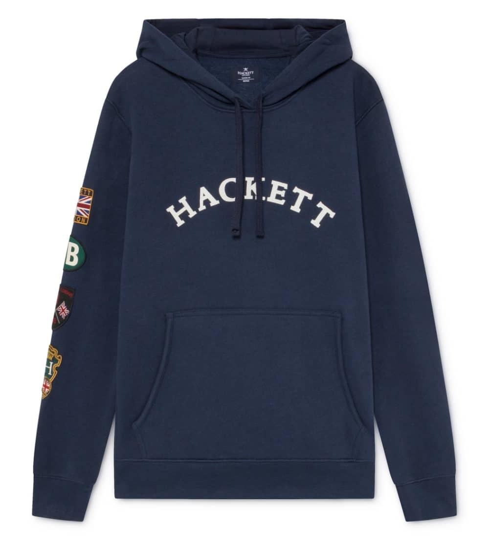 Hackett London Sudadera Marino Parches