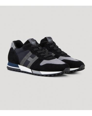 Hogan Sneaker H383 Negro Metal lateral