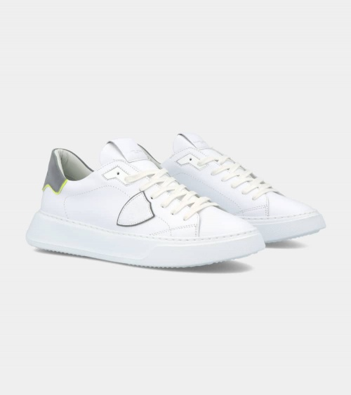 Philippe Model  Zapatilla Blanca Temple Veau lateral