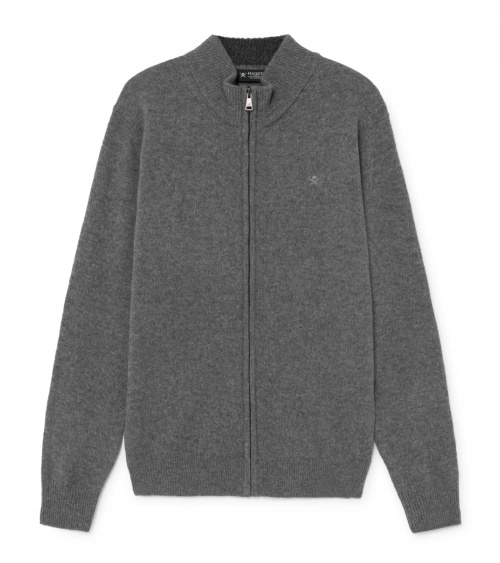 Hackett London Cardigan Gris Cremallera