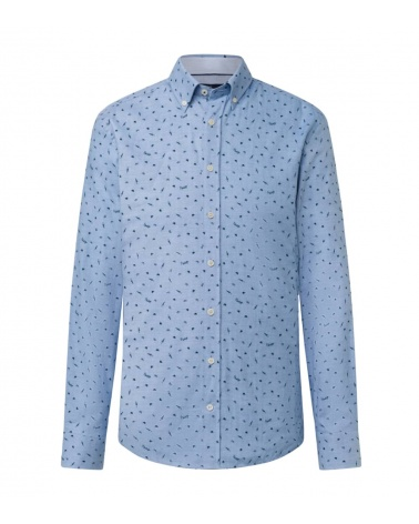 Hackett London Camisa Umbrella Celeste