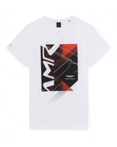 Hackett London Camiseta Blanca AMR Racing