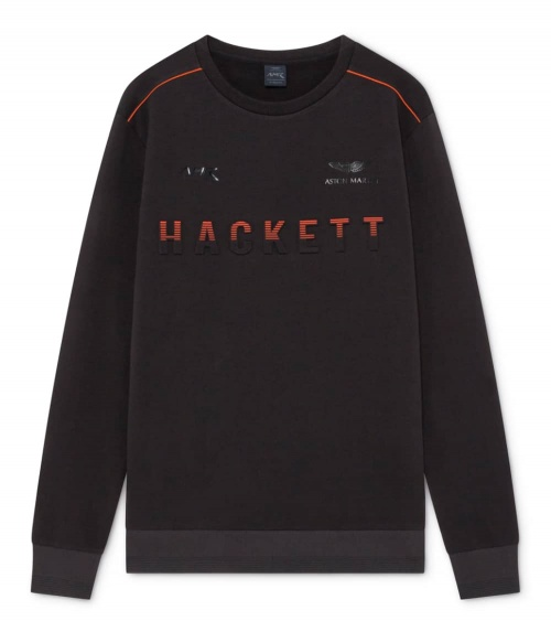 Hackett London Sudadera Negra AMR Fine