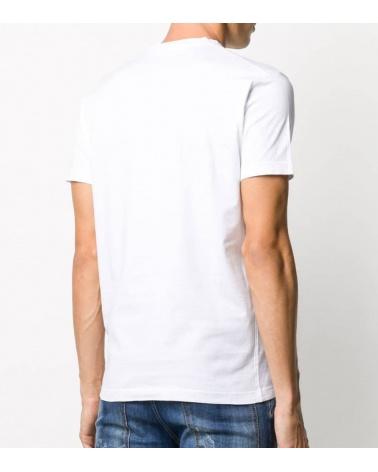 Dsquared2 Camiseta Blanca Logo Satinado espalda