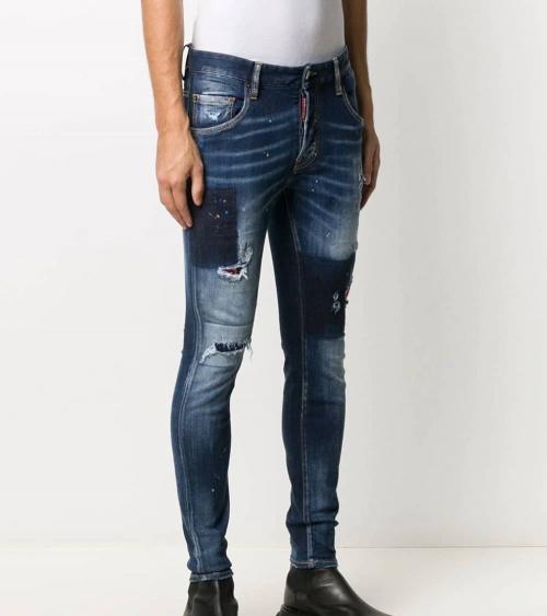 Dsquared2 Jeans Skater Pintura Azul modelo