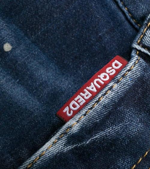 Dsquared2 Jeans Skater Pintura Azul detalle