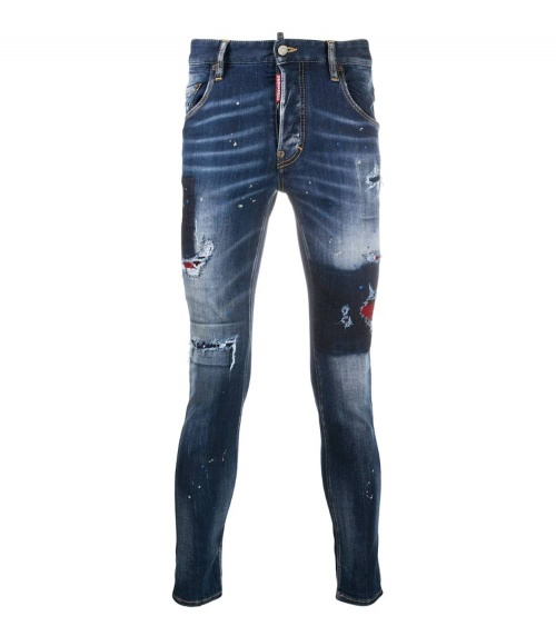 Dsquared2 Jeans Skater Pintura Azul