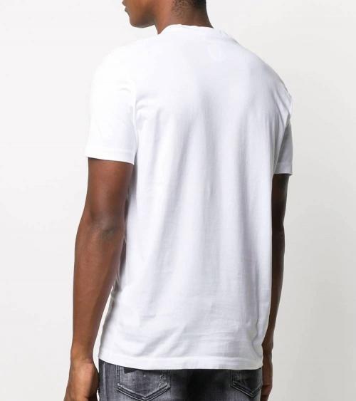 Dsquared2 Camiseta Blanca Logo Piel espalda