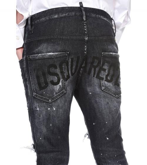 Dsquared2 Jeans Super Twinky Negro Letrero detalle bolsillos