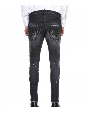 Dsquared2 Jeans Super Twinky Negro Letrero modelo detrás