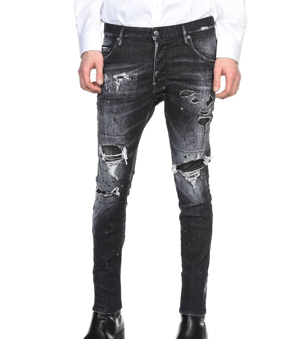 Dsquared2 Jeans Super Twinky Negro Letrero