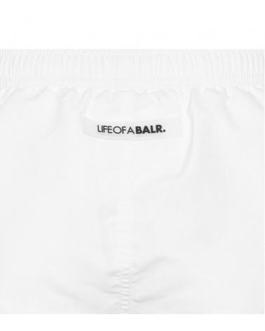BALR Bañador Logo Blanco detalle