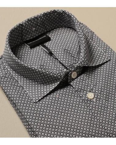 Emporio Armani  Camisa Rombos Gris detalle
