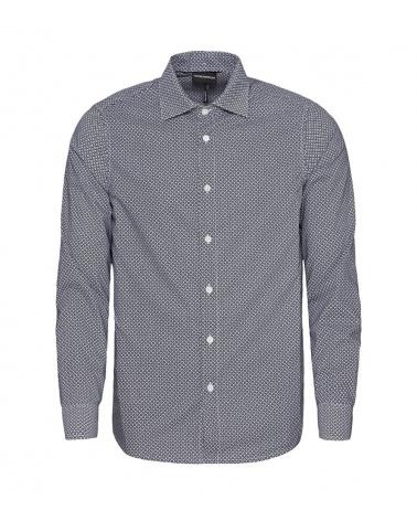 Emporio Armani  Camisa Rombos Gris