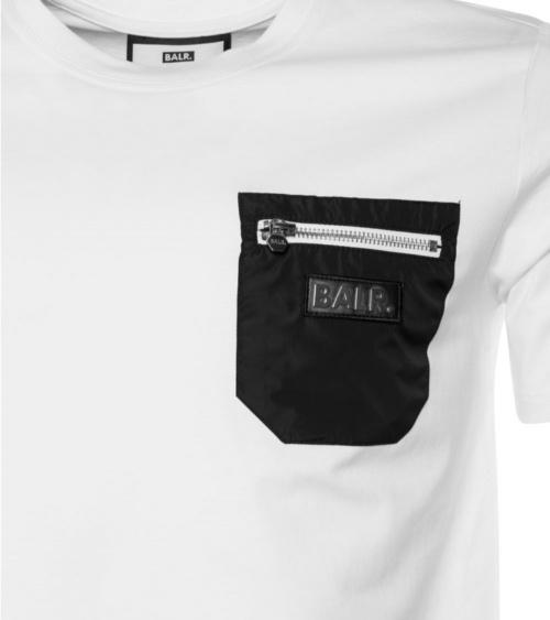 BALR Camiseta Bolsillo White detalle