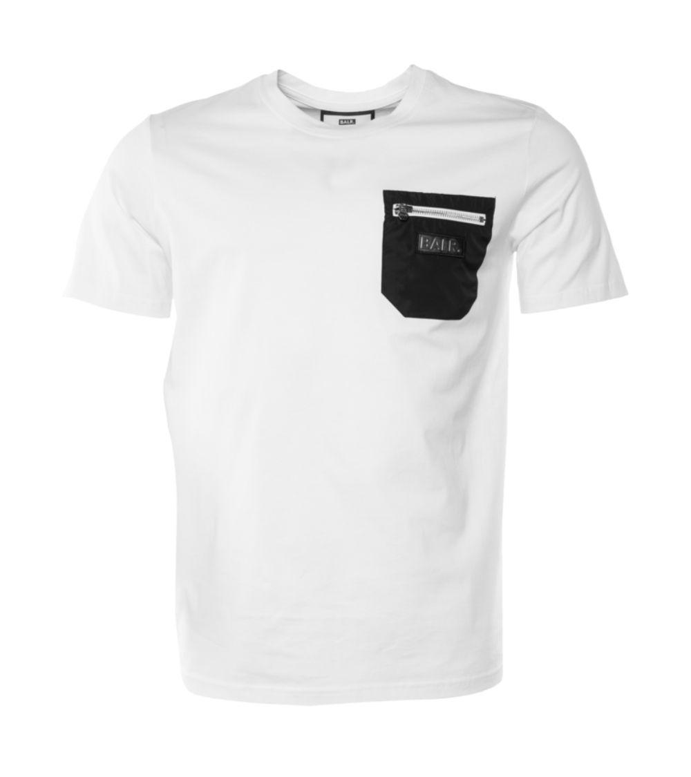 BALR Camiseta Bolsillo White