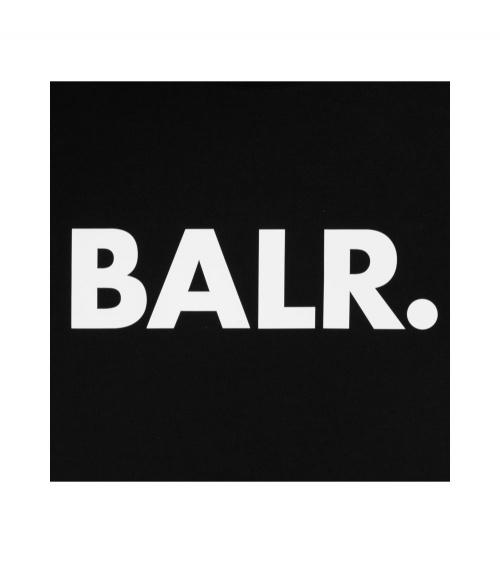 BALR Camiseta Brand Negra detalle