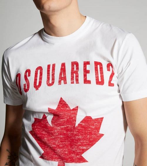 Dsquared2 Camiseta Canadian Blanca detalle