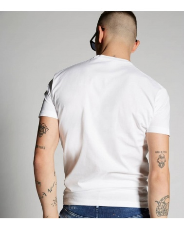 Dsquared2 Camiseta Canadian Blanca modelo espalda