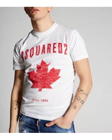 Dsquared2 Camiseta Canadian Blanca modelo
