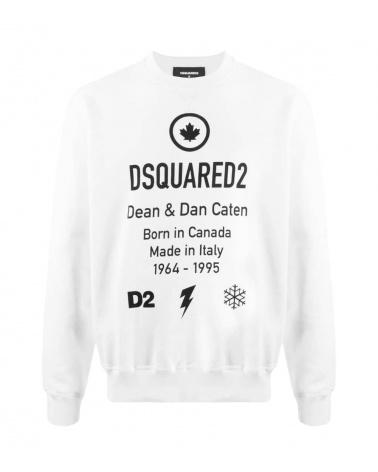 Dsquared2 Sudadera D2 Blanca