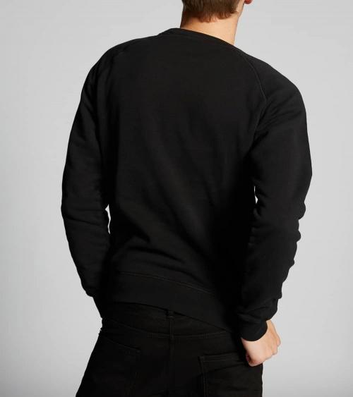 Dsquared2 Sudadera Básica Negra modelo espalda