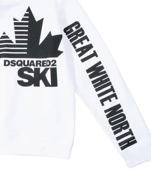 Dsquared2 Sudadera Blanca Ski print