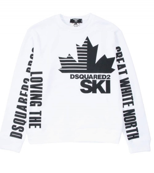 Dsquared2 Sudadera Blanca Ski