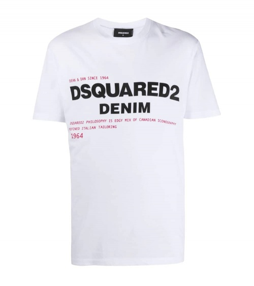 Dsquared2 Camiseta Denim Blanca