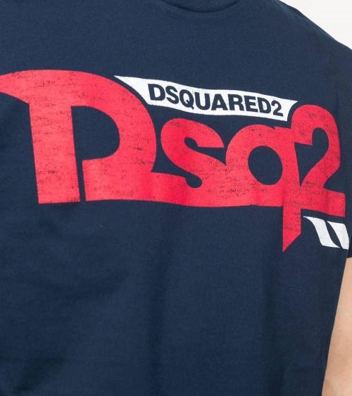 Dsquared2 Camiseta Marino DSQ2 detalle