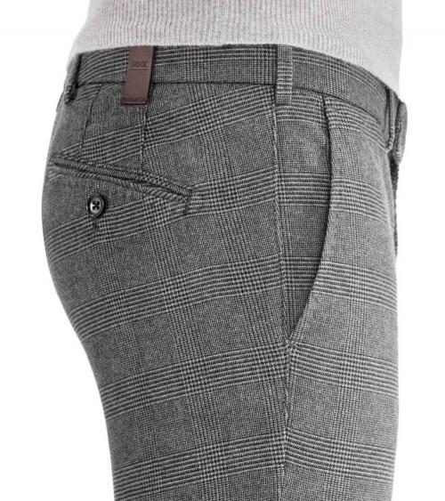 MMX Meyer Pantalón Leo Cuadros Gris lateral