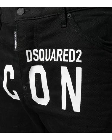Dsquared2 Bermuda Icon Negra detalle