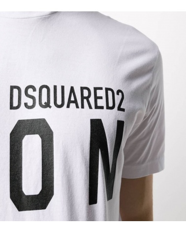 Dsquared2 Camiseta Básica Icon Blanca detalle