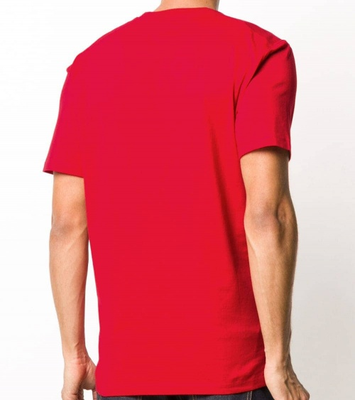 Dsquared2 Camiseta Básica Icon Roja modelo espalda