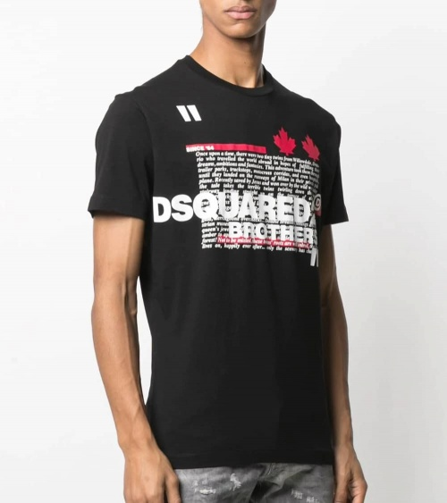 Dsquared2 Camiseta Negra Brothers modelo