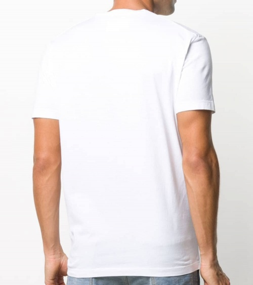 Dsquared2 Camiseta Blanca Multilogo Acqua modelo espalda