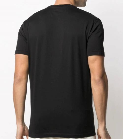 Dsquared2 Camiseta Negra Multilogo Hoja modelo espalda