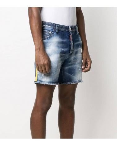Dsquared2 Bermuda Jeans Tira Amarilla modelo