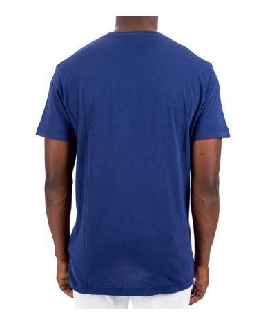 Dsquared2 Camiseta Azul Logo Degradé modelo espalda