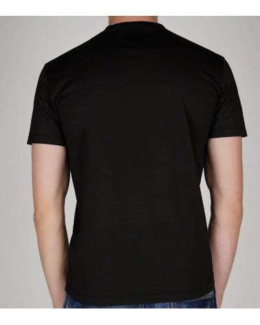Dsquared2 Camiseta Negra Logo Letrero modelo espalda