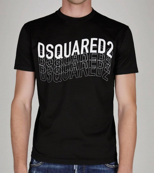 Dsquared2 Camiseta Negra Logo Letrero modelo