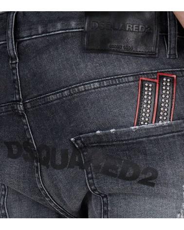 Dsquared2 Jeans Rectos Negros detalle bolsillo