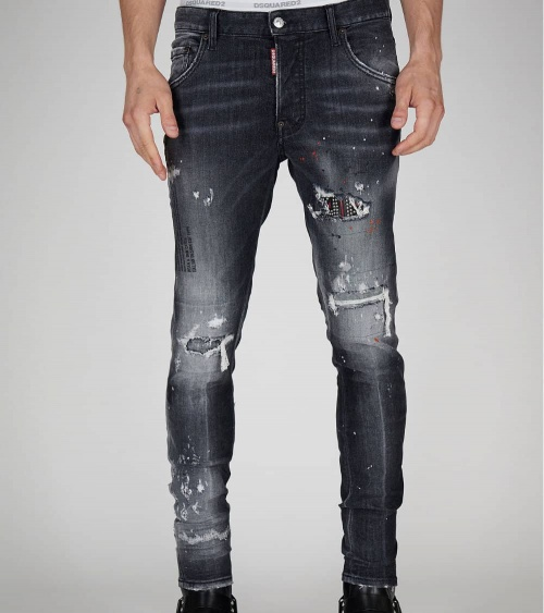 Dsquared2 Jeans Rectos Negros modelo