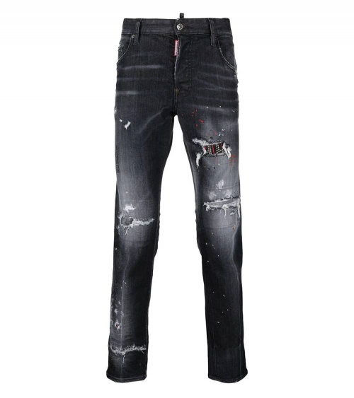 Dsquared2 Jeans Rectos Negros