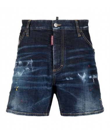 Dsquared2 Bermudas Pintura Red Yellow